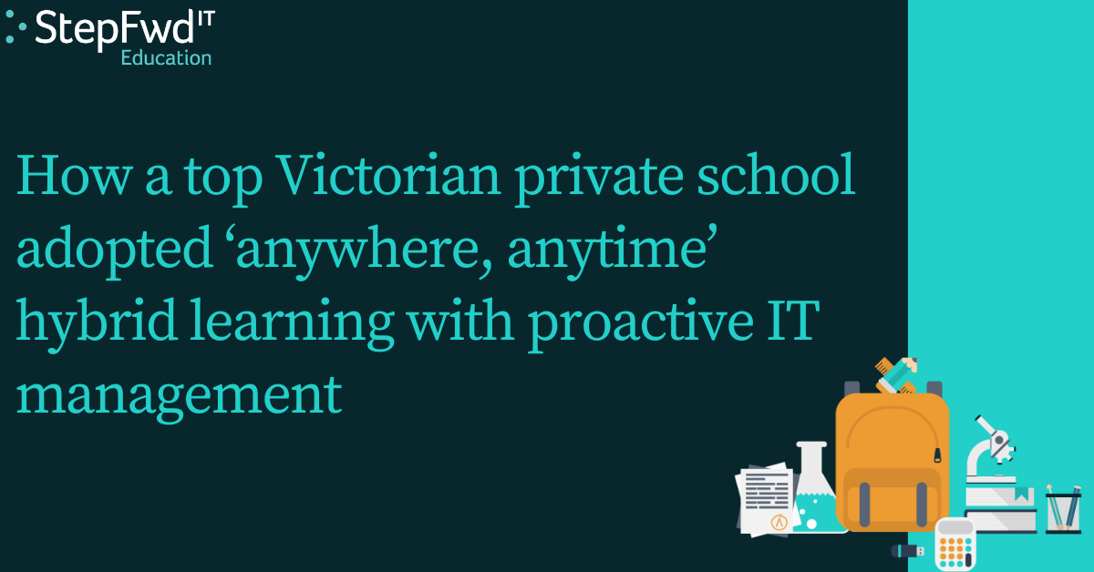 How a top Victorian private school embraced technology to support remote learning