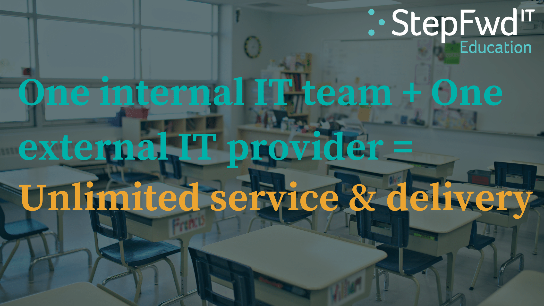 One internal IT team + One external IT provider = Unlimited service & delivery