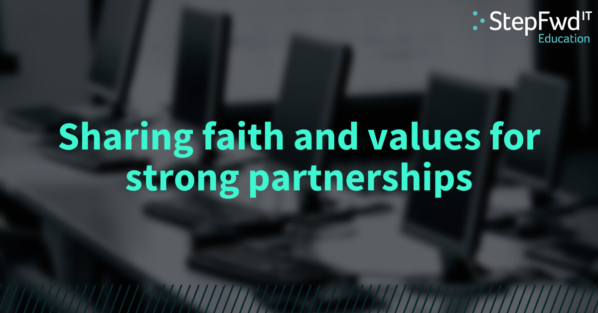Sharing faith and values for strong partnerships
